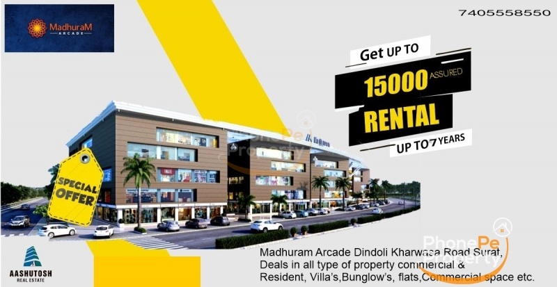 shops in dindoli with 7years guaranteed Rental income